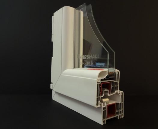 műszaki paraméterek GEALAN S8000, normál üvegezéssel