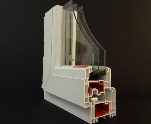 műszaki paraméterek GEALAN S9000, 3 rétegű üveggel